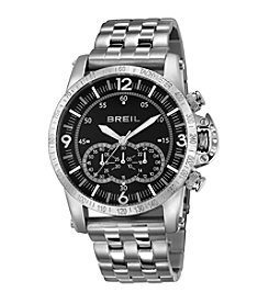 Breil Men's Aviator Watch with Black Dial