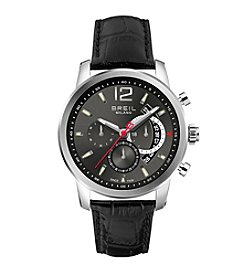 Breil Men's Miglia Watch with Grey Dial and Black Strap