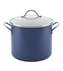 Farberware® New Traditions 12-qt. Blue Speckled Aluminum Nonstick Covered Stockpot