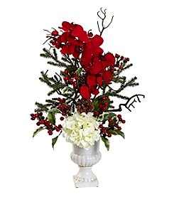 Nearly Natural® Holiday Elegance Arrangement with Urn