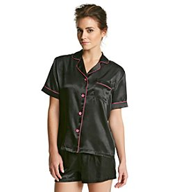 Linea Donatella® Satin Short Pajama Set