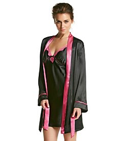 Linea Donatella® Satin Chemise Wrap Set