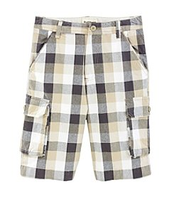 Ruff Hewn Boys' 8-16 Plaid Cargo Shorts
