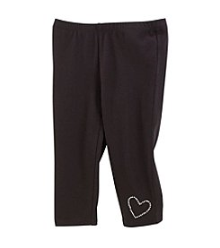 Little Miss Attitude Girls' 2T-6X Sequin Heart Capri Leggings