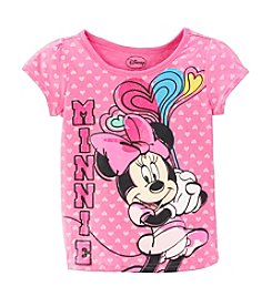 Nannette® Girls' 2T-4T Minnie With Hearts Tee