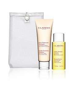 Clarins Dry/Sensitive Skin Cleansing Duo Gift Set (Over $30 Value)