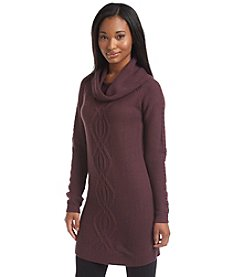 Pink Rose® Cowlneck Cable Tunic