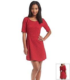 Be Bop Texture Floral Skater Dress