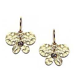Athra Gold Plated Butterfly Earrings
