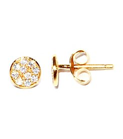 Athra Gold-Plated Sterling Silver Cubic Zirconia Stud Earrings