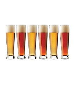 Libbey® Craft Brews Set of 6 Tall Pilsner Glasses