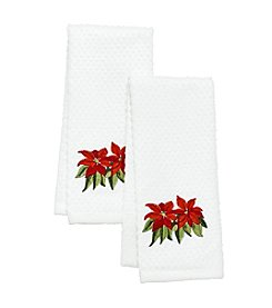 Croscill® Poinsetta 2pk Kitchen Towels