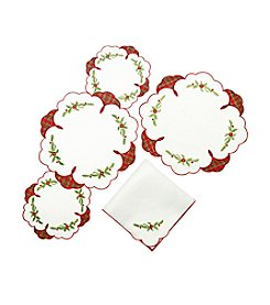 Lenox® Poinsettia Tartan Table Linens