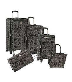 Anne Klein Black Mane Line Luggage Collection