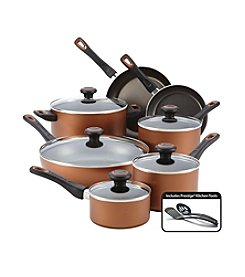 Farberware® 14-pc. Copper Dishwasher Safe Nonstick Cookware Set