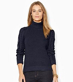 Lauren Ralph Lauren® Cable-Knit Turtleneck Sweater