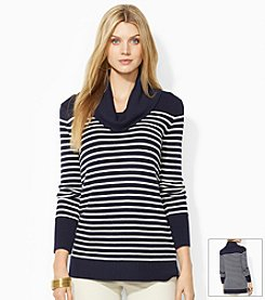 Lauren Ralph Lauren® Striped Wool-Blend Cowlneck Sweater
