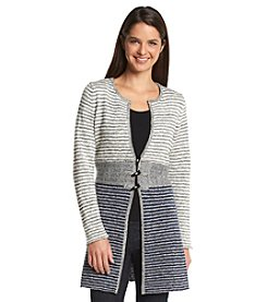Fever™ Long Striped Cardigan