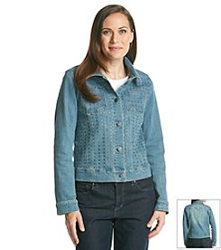 Laura Ashley® Jeweled Denim Jacket