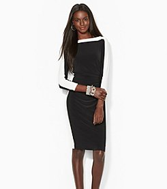 Lauren Ralph Lauren Two-Toned Bateau Dress