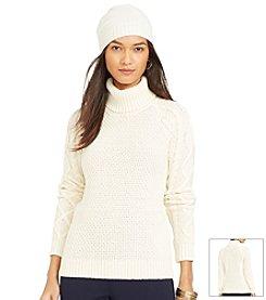 Lauren Ralph Lauren® Petites' Cable-Knit Turtleneck Sweater