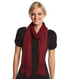 Cejon® Metallic Crochet Wrap with Fringe