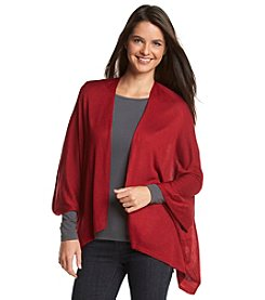 Cejon® Solid Knit Shirttail Topper Shrug