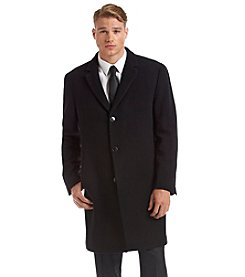 Calvin Klein Men's Plaza Black Topcoat