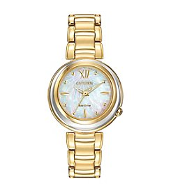 Citizen® Women's Eco-Drive Goldtone Diamond Sunrise Watch