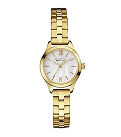 Caravelle® by Bulova Women's Goldtone Watch with Mother-Of-Pearl Dial