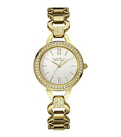 Caravelle® by Bulova Women's Goldtone Crystal Watch