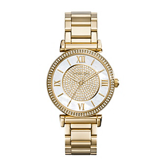 Michael Kors® Goldtone Catlin Watch with Mother-of-Pearl