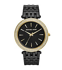 Michael Kors® Black IP Darci Watch with Goldtone Accents