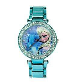 Accutime Youth Frozen® Elsa Metallic Blue Stone Watch