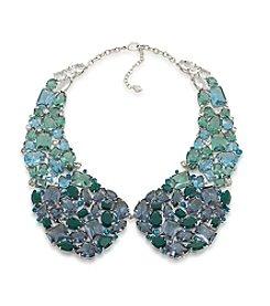 Carolee® Gems & Tonic Silvertone Dramatic Collar Necklace