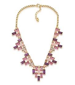 Carolee® Modern Rose Goldtone Ombre Baguette Frontal Necklace