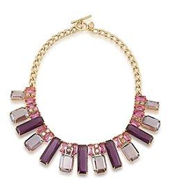 Carolee® Modern Rose Goldtone Frontal Collar Necklace