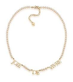 Carolee® Champagne Bubbles Goldtone Joie De Vivre Necklace