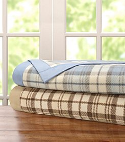 Premier Comfort Plaid Micro Fleece Blanket with Satin Binding