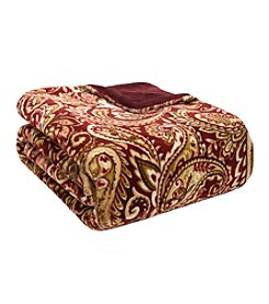 Premier Comfort Red Paisley Bristol Lisburn Microlight Throw