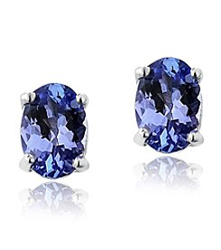 Designs by FMC Sterling Silver 1 ct. t.w. Tanzanite Oval Stud Earrings