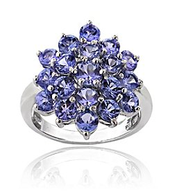 Designs by FMC Sterling Silver 2.5 ct. t.w. Tanzanite Flower Ring