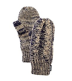 MUK LUKS® Marled Cable Two Tone Mittens - Galaxy