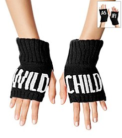 BCBGeneration™ Jet Black Attention Seeker Fingerless Gloves