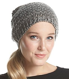 Collection 18 Gray Seedstitch Rainbow Slouch Hat