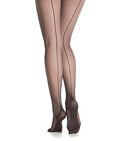 Calvin Klein Backseam Sheer to Waist Tights - Black
