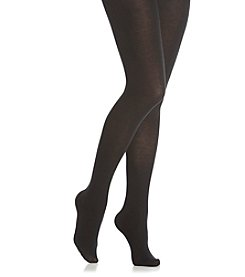 HUE® Thermo-Luxe Opaque Tights - Black
