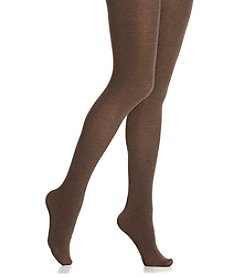HUE® Thermo-Luxe Opaque Tights - Espresso Heather
