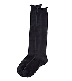 HUE® Roll Top Knee Socks - Navy