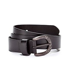Fossil® Rhinestone C Buckle Belt - Black
